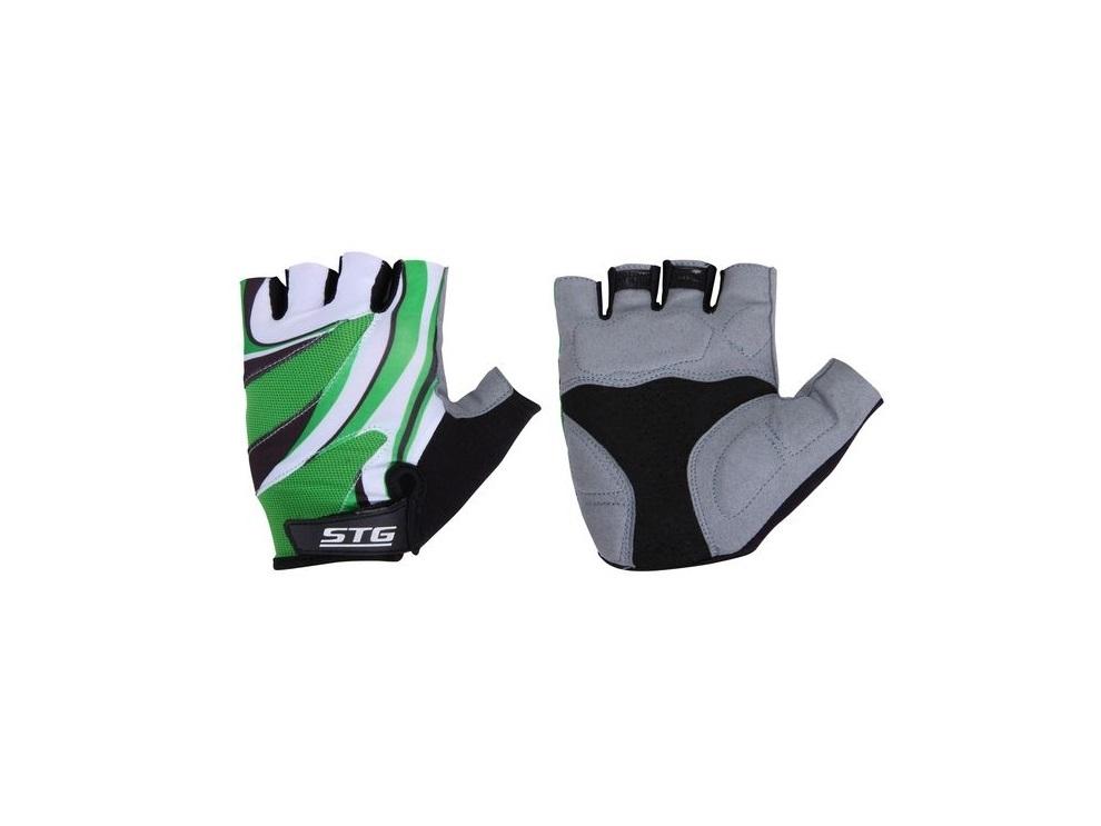 Перчатки велосипедные STG 61887 (кожа+лайкра)