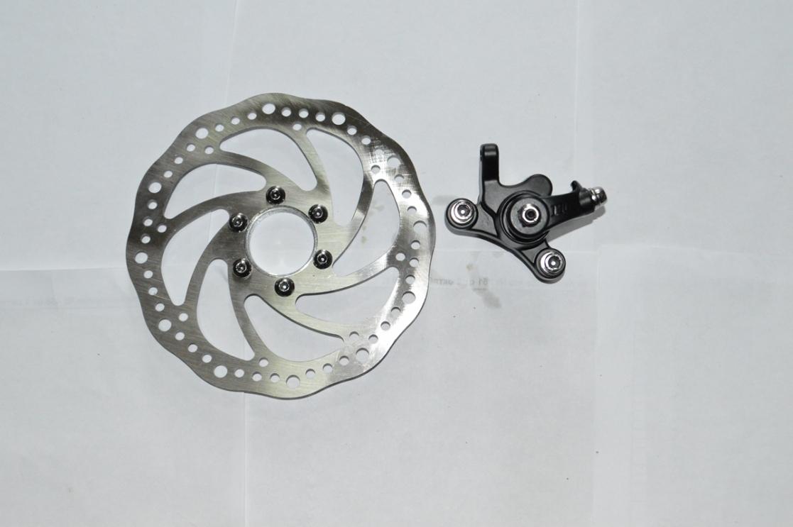 Калипер диск.тормоза (машинка)+диск накруч униерсал 3122633-4, код 90206