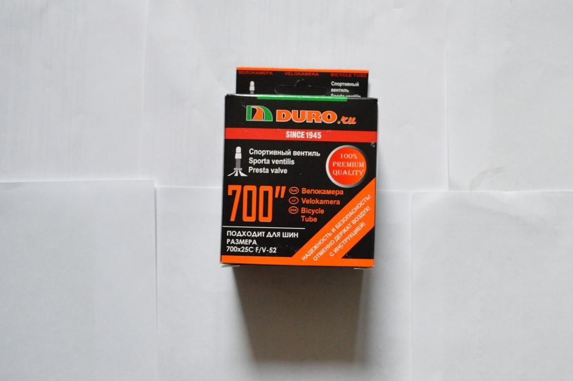 Камера DURO 700x25C (25x622) F/V-52 Presta (25-622)