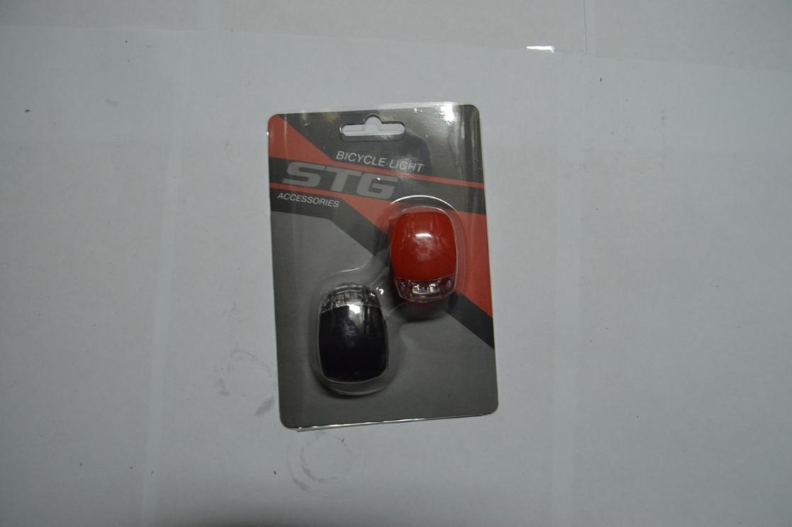 Фонарь набор силикон. бел+красный BC-RL8001 X95125