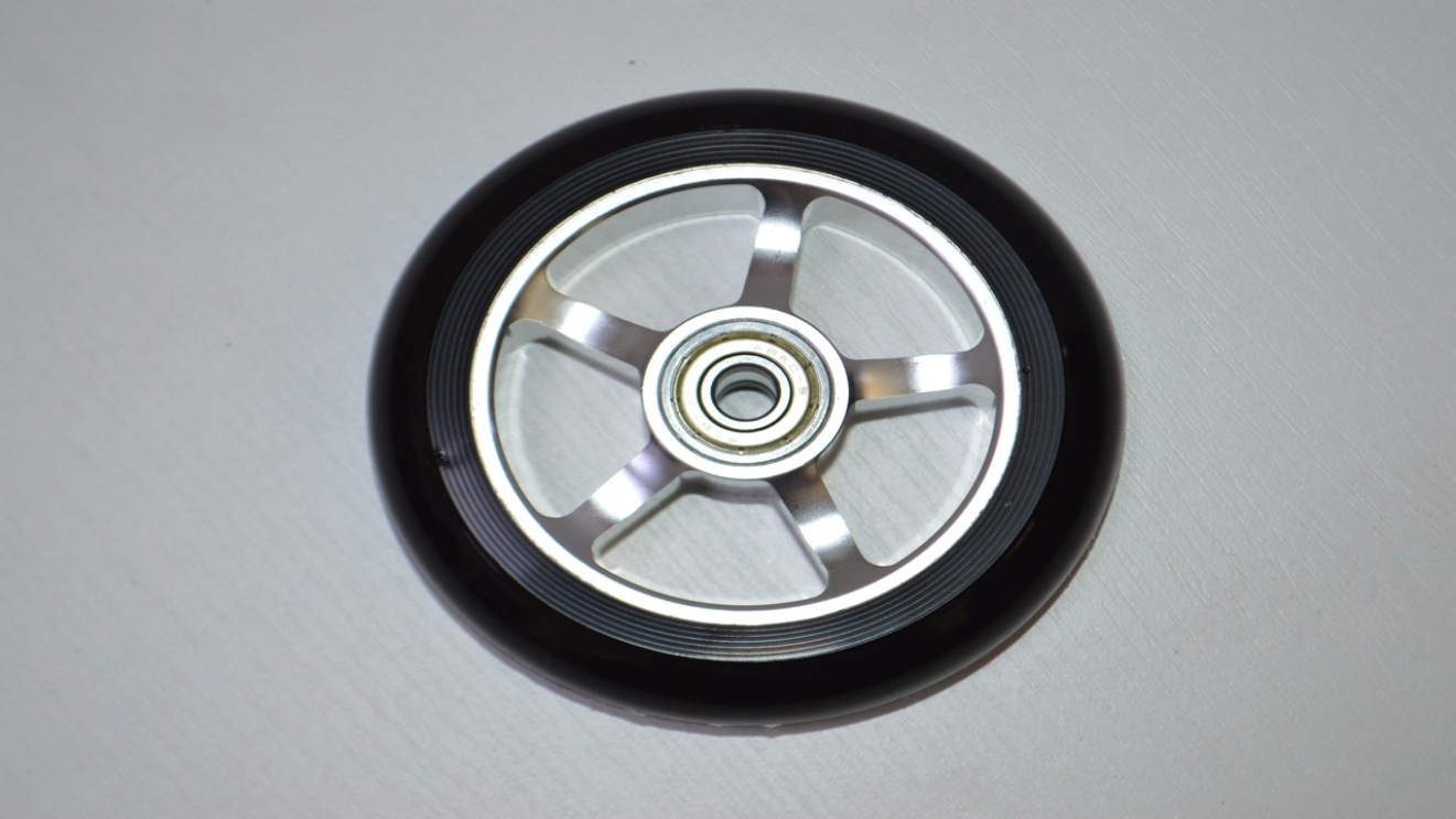 Колесо для трюкового самоката 100mm алюм. PU with Aluminium core, код 78111
